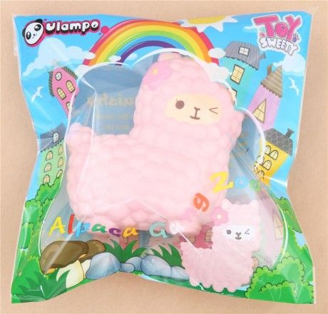 Vlampo jumbo big pink alpaca squishy