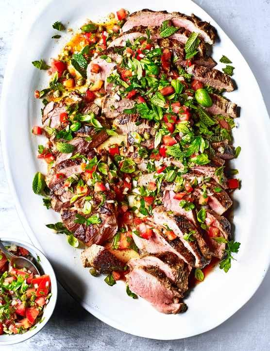 Try our summer roast lamb with tomato and caper marinade. This recipe uses leg of lamb and roasts the lamb on the BBQ. Add this recipe to your bbq grill