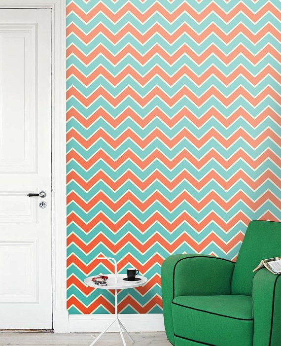 Removable selfadhesive colourful chevron vinyl by PatPrintbyAmy
