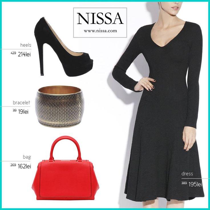 www.nissa.com #nissa #outfit #sale #promotion #dress #heels #bag #bracelet #style #look #fashion #fashionista