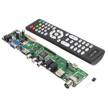 Only US$11.89, buy best V56 Universal LCD TV Controller Driver Board PC/VGA/HDMI/USB Interface sale online store at wholesale price.US/EU warehouse. http://amzn.to/2rsgx6g