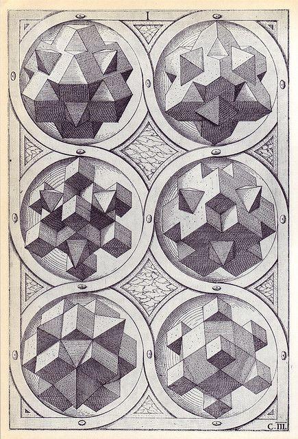 Terra (c) - Perspectiva Corporum Regularium -  Wenzel Jamnitzer 1568 by peacay, via Flickr