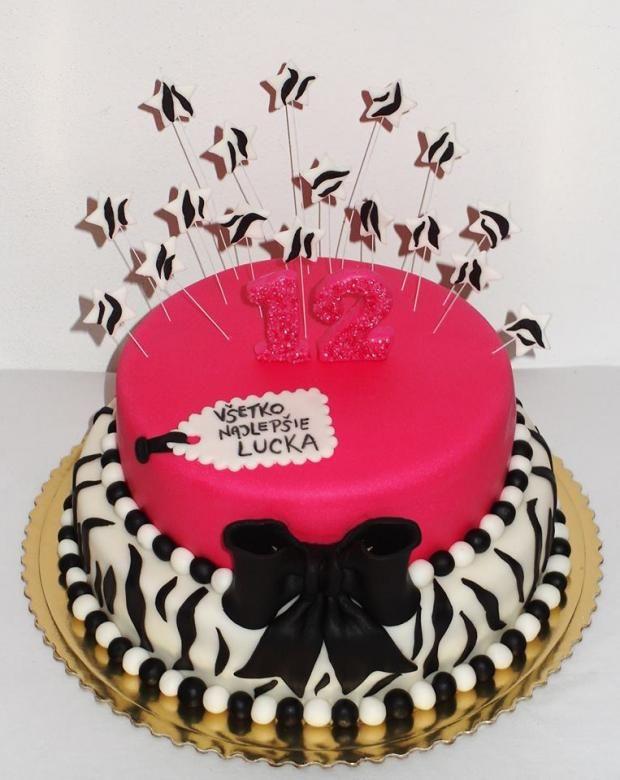 k 12-tim narodeninám v zebra štýle , narodeninové torty | Tortyodmamy.sk