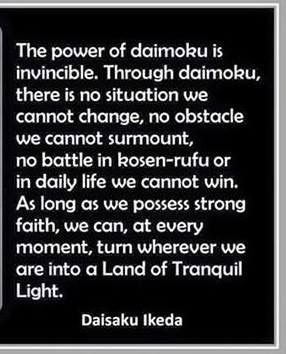 power of daimoku