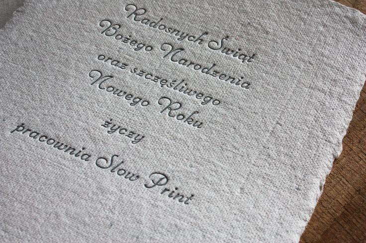 christmas wishes #letterpress #slowprint #christmascard #cottonpaper