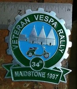 VETERAN Vespa Club Plakette Plaque SIGN RALLY 1997 ACMA HOFFMAN DOUGLAS GS SS 90