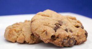 Freshly Baked Peanut Butter Cookies with Chocolate Chips | The Internet Department Store on Wanelo