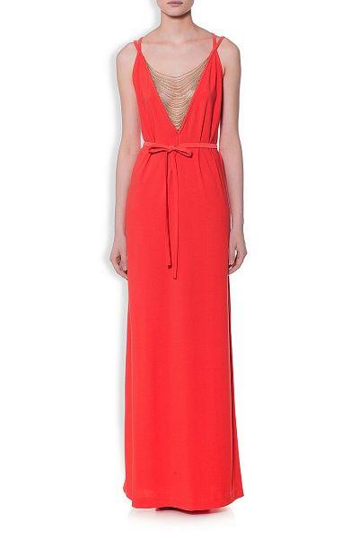RACHEL ZOE - Платье-макси из тонкого материала кораллового оттенка в Интернет-магазине NAME'S