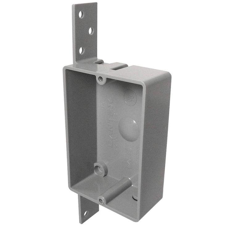 "CANTEX Electrical Box, PVC, 1-1/4"" Nominal Depth, 2-3/8"" Nominal Width, 3-1/2"" Nominal Length - Electrical Boxes - 4FZC4|EZ08SB - Grainger Industrial Supply"