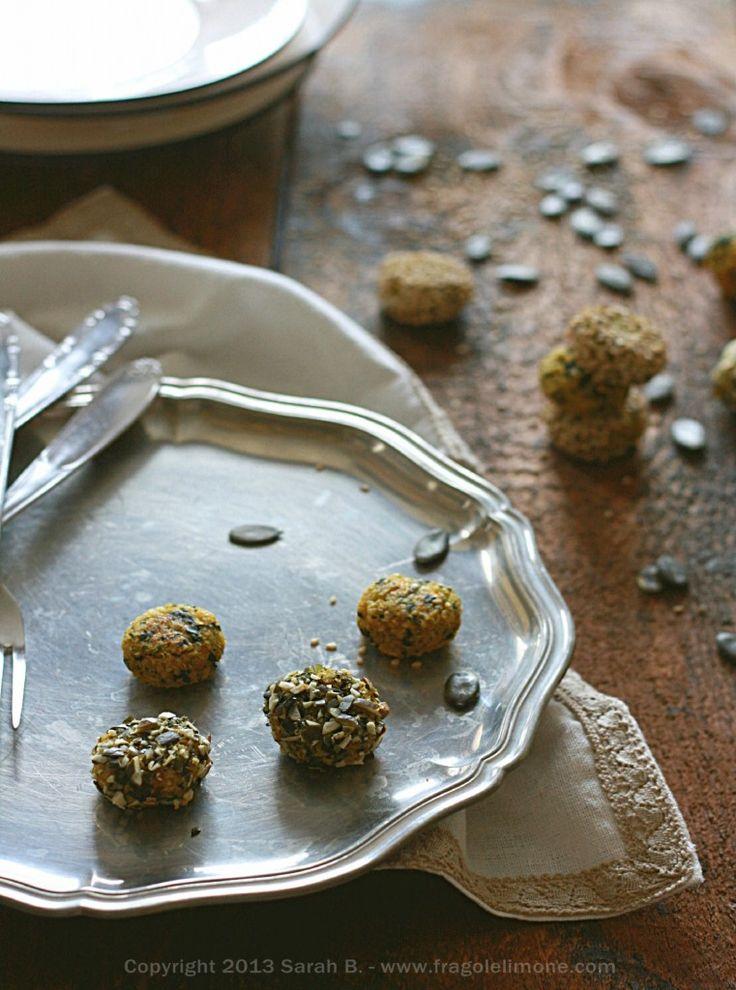 Polpette di quinoa con zucca e spinaci