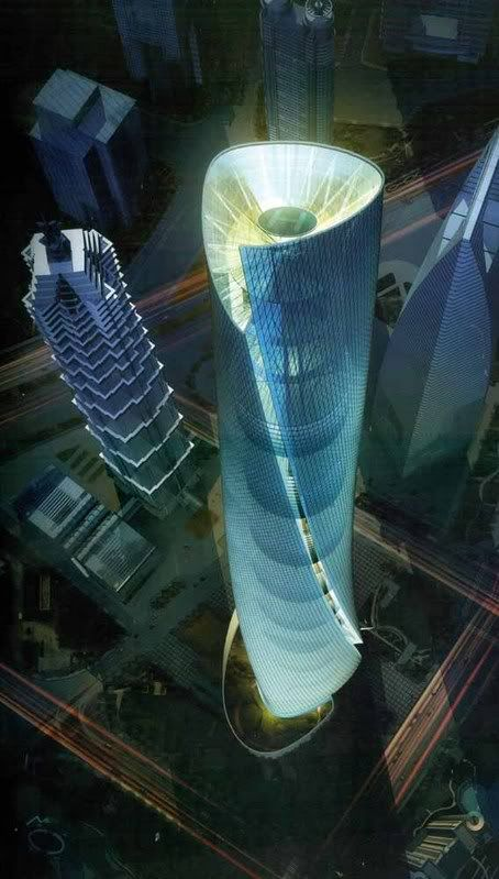 Shanghai Tower. If I ever got to the top, I would probably pass out...but it would still be cool to see!
