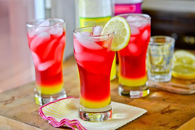 Cool down with this Limoncello Cranberry Cocktail.