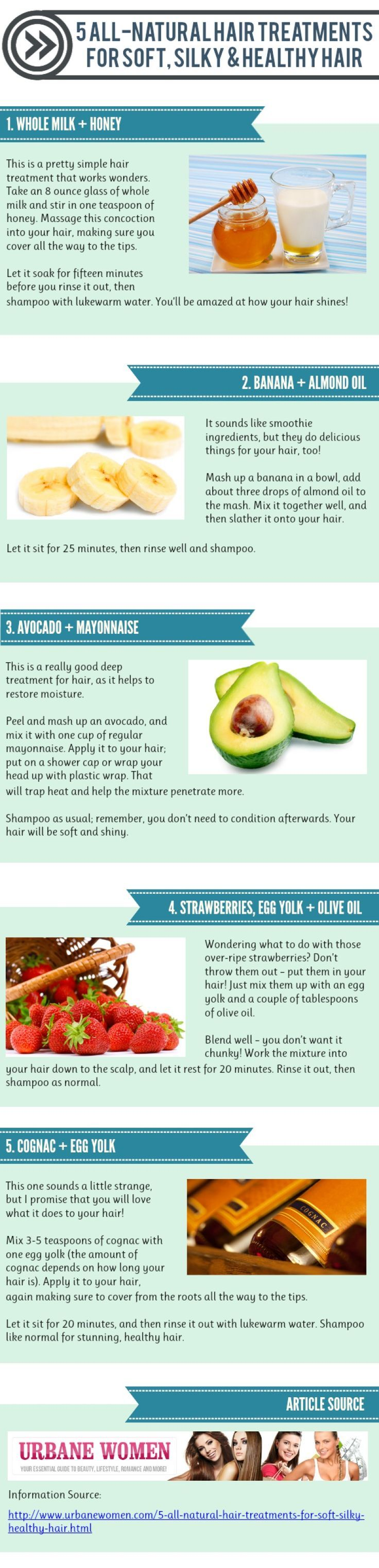 5 natural hair treatment for soft, silky, and healthy hair...