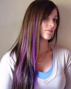 Purple Human Hair Streaks
