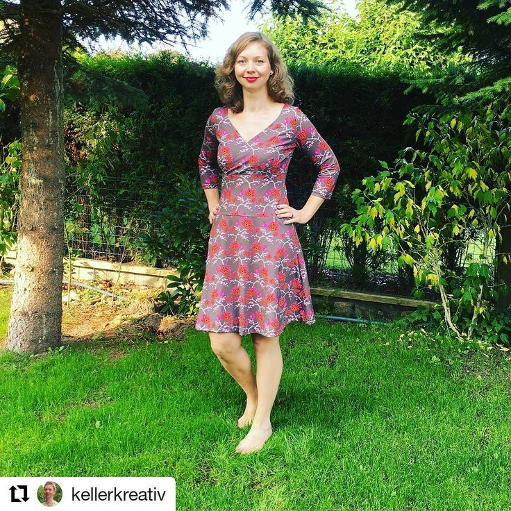 Wickelkleid aus dem @rosap.de Buch #nähdirdeinkleid, erhältlich im #rosapshop über www.rosape.de