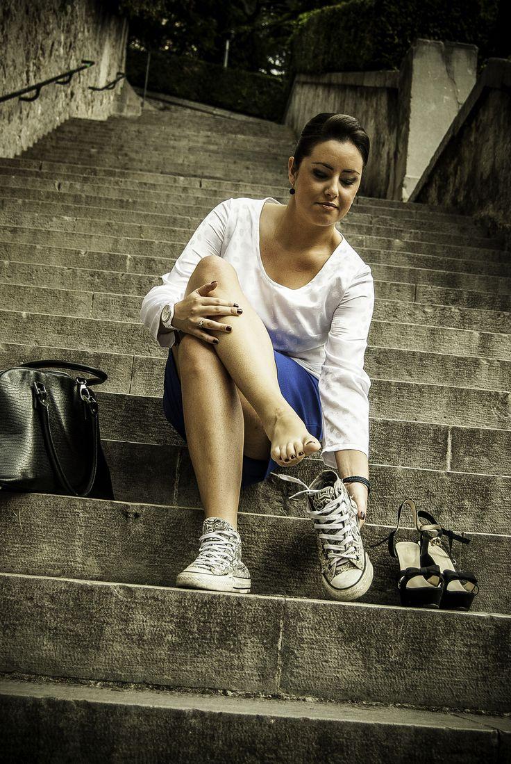 #heels can be #hell. #godblessconverse #atelieritaliano #photoshoot #backstage