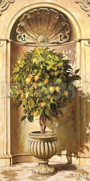#5684 Лимонное дерево в нише