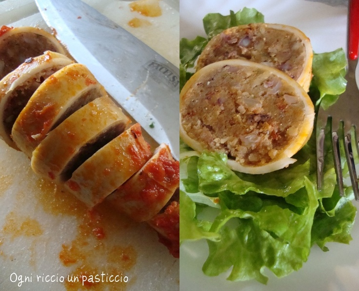 totani ripieni al sugo Ricetta pantesca -  Stuffed squids with sauce of Pantelleria recipe