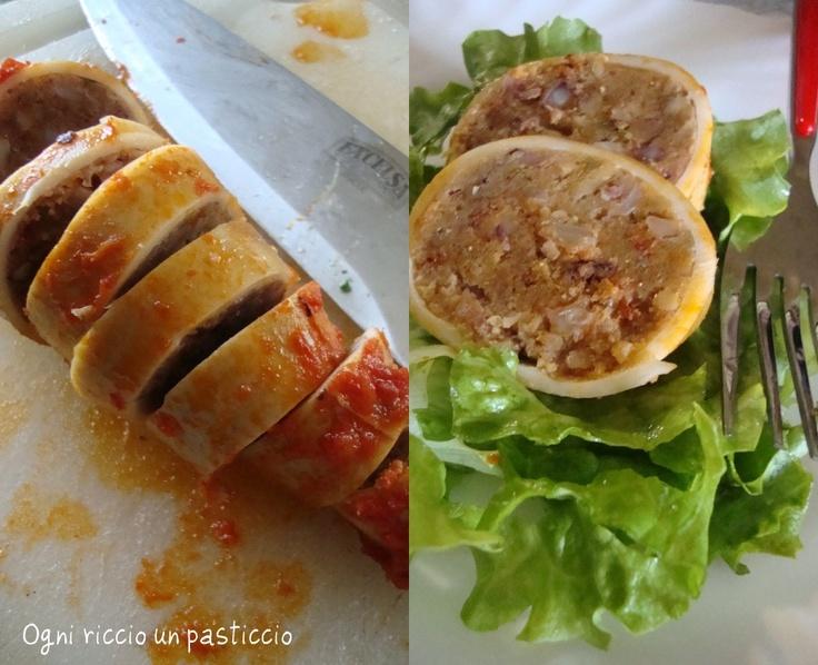 totani ripieni al sugo Ricetta pantesca -  Stuffed squids with sauce of Pantelleria recipe