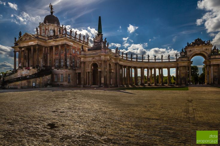 Neues Palais in Potsdam is less known than Sanssouci Palace but also impressive