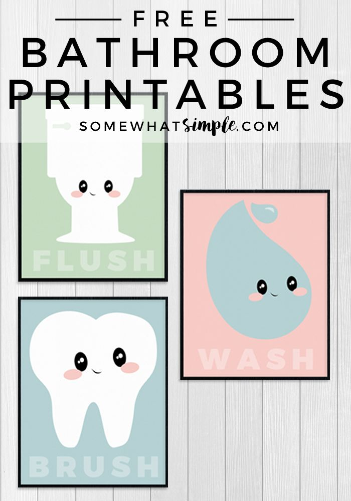 FREE printable bathroom prints