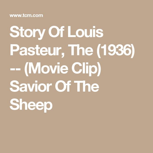 Story Of Louis Pasteur, The (1936) -- (Movie Clip) Savior Of The Sheep