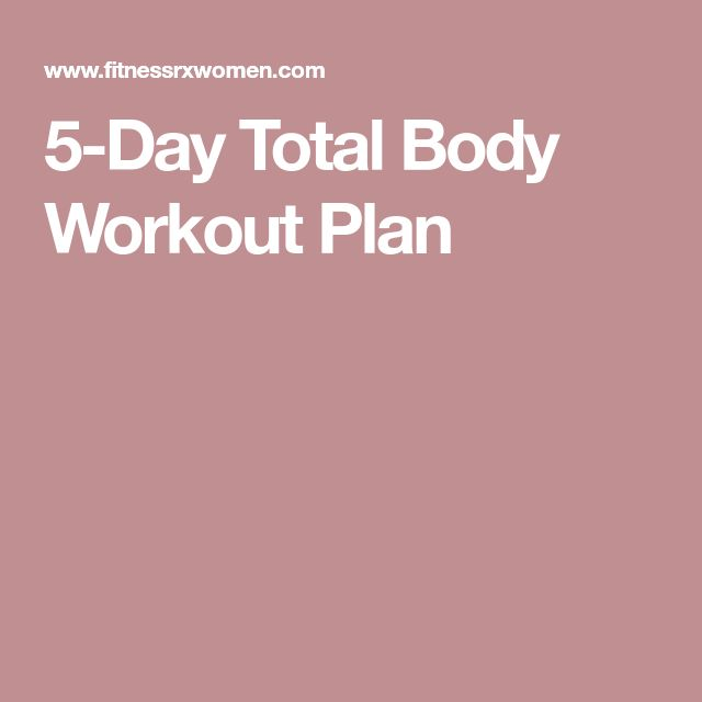 Best 25+ 5 day workout plan ideas on Pinterest In gym workouts - weekly workout plan