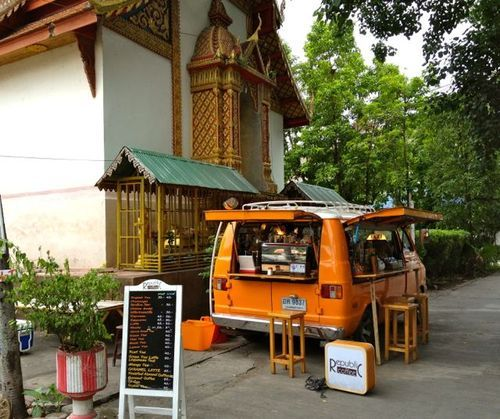 That's how I had heard expat friends describe Chiang Mai. I was a little skeptical arriving, bleary-eyed off another overnight bus from Chiang Khan, and finding myself in a bus station where this was...