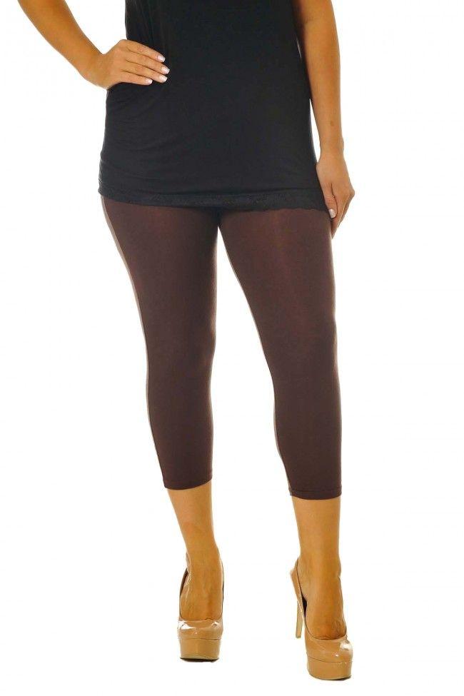 PRE ORDER: Essential Versatile Cropped Leggings - Brown