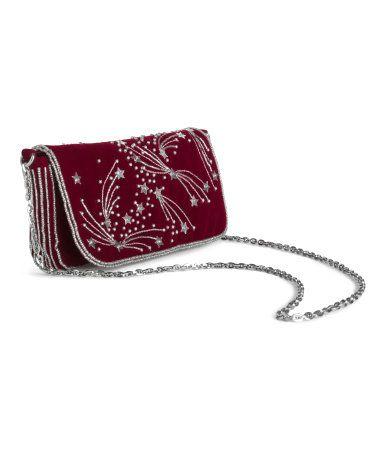 Beaded Shoulder Bag | Burgundy | Ladies | H&M US