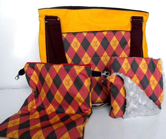 CUSTOM Diaper Bag Set-  Upsized Expedient Diaper Bag w/ Changing Pad and Wetbag- PREMIUM FABRIC