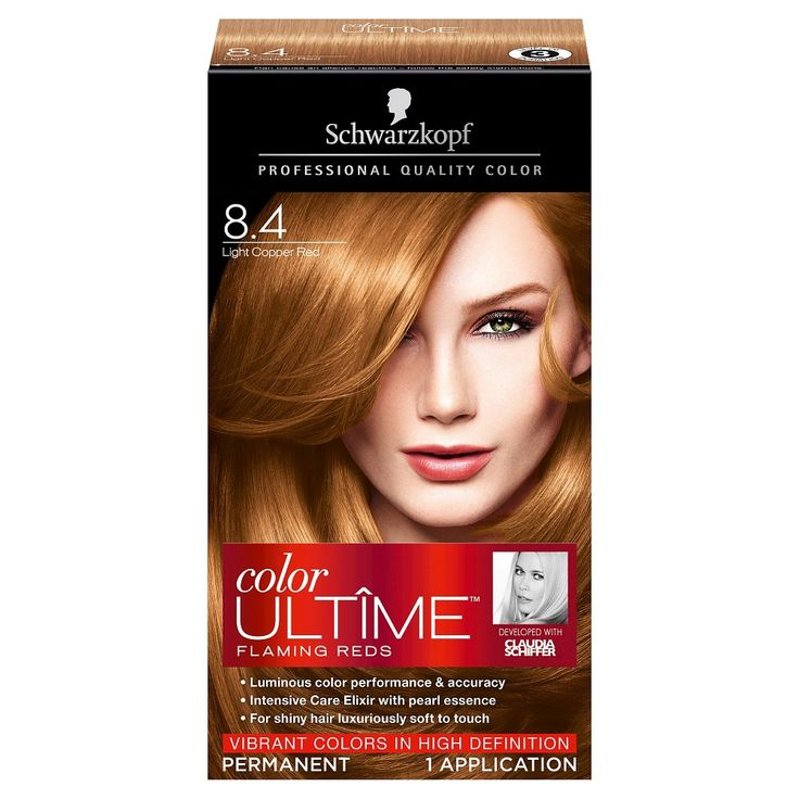 Schwarzkopf Color Ultime Flaming Reds Hair Color 8.4 Light Copper Red - 2.03 oz