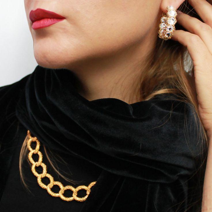 #Rosebrinelli #earrings #jewelry #hoops #necklace