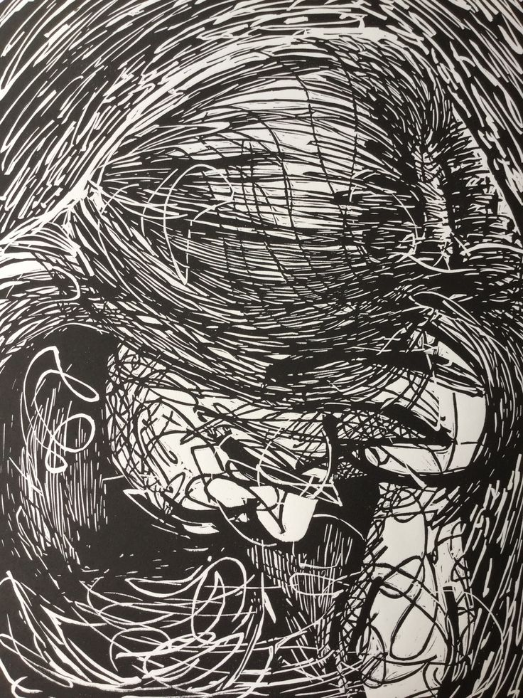 The Seen and the Unseen Linocut from the EmbedED Exhibition 2014