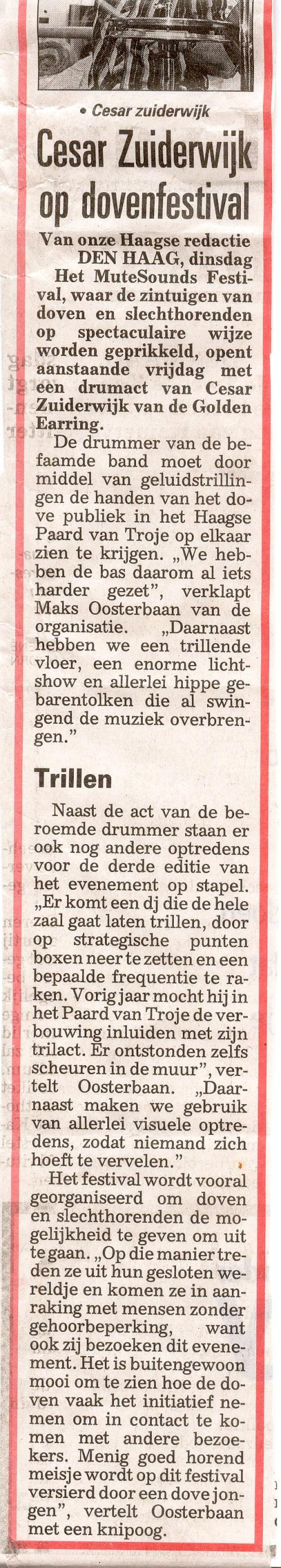 Telegraaf - oktober 2010