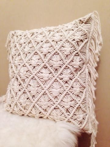 Our newest design, the Diamond Knot Macrame Pillow is a perfect addition to your #homedecor. Click link for full product information.