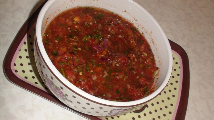 Homemade Salsa -Video Recipe - Quick & Easy!...We - my Husband and I - made this delicious salsa tonight and it is just like the tasty stuff at a Mexican restaurant with some heat! We had a blast together in the kitchen! :)