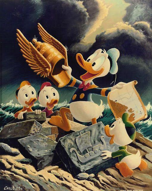 Ilustração: Donald Duck - Golden Helmet por Carl Barks