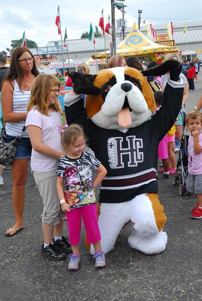 Basil the St. Bernard at the St. Joe County fair this past summer!
