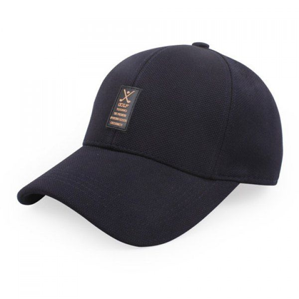 Stylish Labelling Rubber Embellished Solid Color Baseball Cap For Men #CLICK! #clothing, #shoes, #jewelry, #women, #men, #hats