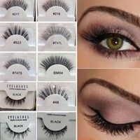 Wish | Soft False Hair HUDA Eyelashes Adhesives Glamour Red_Cherry Eye Lashes