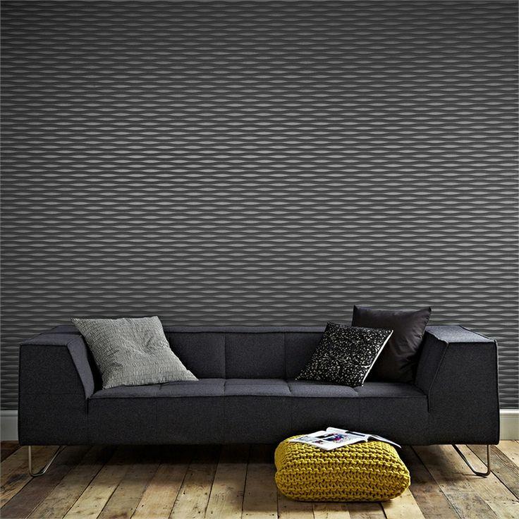 Superfresco Easy Charcoal Lucid Wallpaper I/N 1661776   Bunnings Warehouse