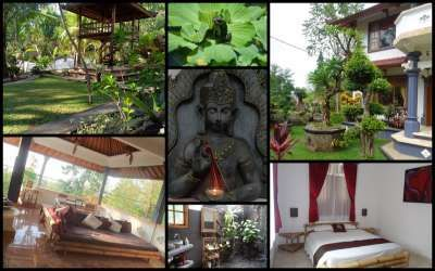 Balinese home in the north of Bali,  LOVINA 315m2 home sits on a spacious 1500m2 freehold land. Strong building and excellent layout that you can easily create your own interior concept. Several outdoor covered decking areas to relax and enjoy the fresh air, very open style living. Beautiful low maintenance gardens. Vegetable garden and numerous fruit trees. River runs along the rear of the property. Lovina, Bali, Indonesia - Property ID:12554 -