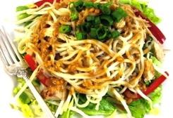 Thai-riffic Noodle Chicken Salad with Peanut Dressing :: Recipe Kitchen: Thai Riff Noodles, Peanut Dressing, Thai Noodles, Weights Watcher Points, Chicken Salads, Noodles Salad, Noodles Chicken, Peanut Dresses, Peanut Butter