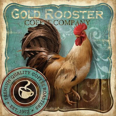 Gold Rooster by Conrad Knutse