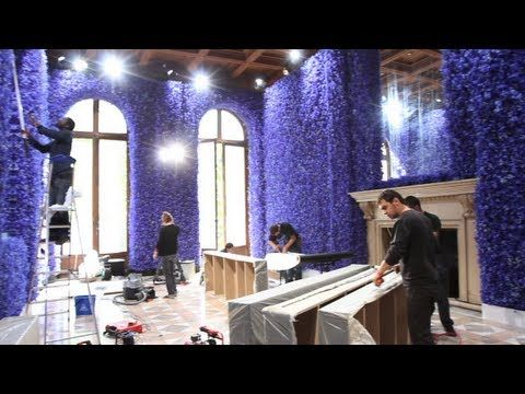 Dior installed 1 million flowers for the Haute Couture Autumn-Winter 2012 set-