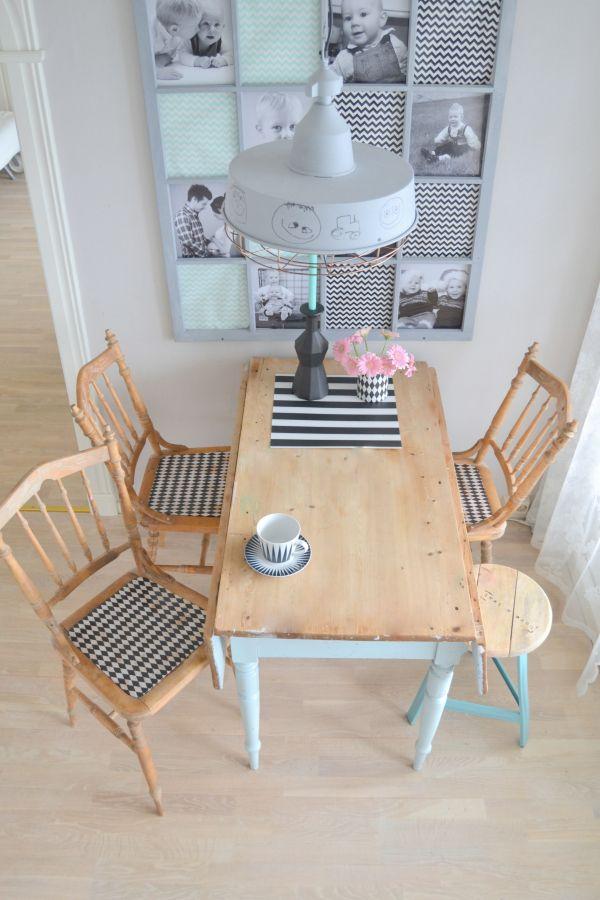 Litehi: Lakk + servietter = nye stoler