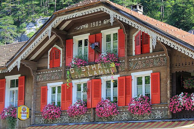 Swiss Chalet by Marlis1, via Flickr