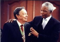(Late) Billionaire Industrialist of South Africa, the great Dr Anton Rupert with nelson Mandela.