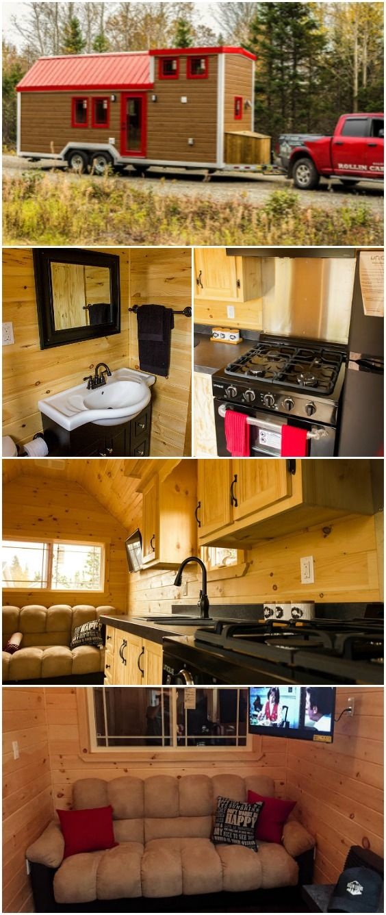 New Canadian Tiny House Builder Releases Impressive 210sf Home on Wheels Rollins Cabins is a new tiny house builder from Canada and we're going to be keeping an eye on them after seeing their impressive debut! This home is 24 feet long and has 160 square feet on the main floor with an additional 50 square feet in the loft. With an attractive exterior and an impressive interior, we're excited to see what they do next! This model starts at $48,386.
